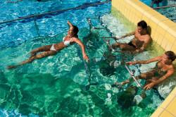 Unterwasserfitnessräder im Sportbecken