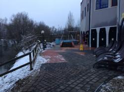 Außenbereich Sauna Therme Blumau