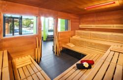 Sauna im Innenbereich der Therme, gegenüber der Whirlpools